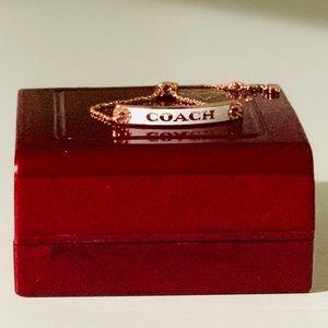 Coach Enameled Bar Adjustable Bracelet